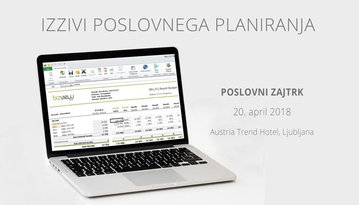O izzivih poslovnega planiranja na poslovnem zajtrku 20. aprila