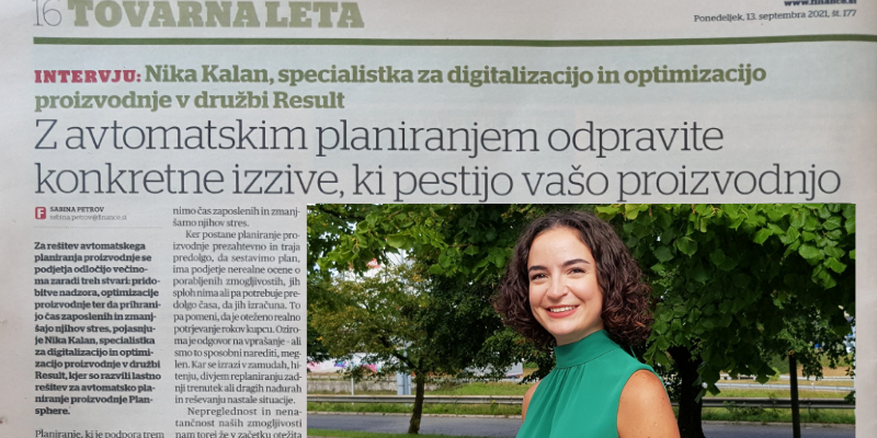Nika Kalan - Intervju v Financah