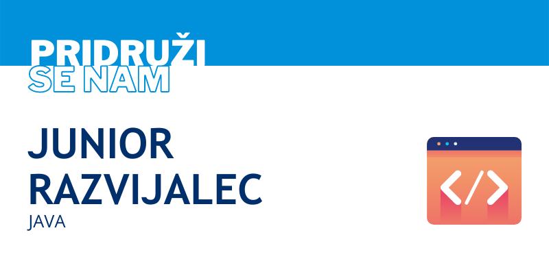 Junior java razvijalec - zaposlitev